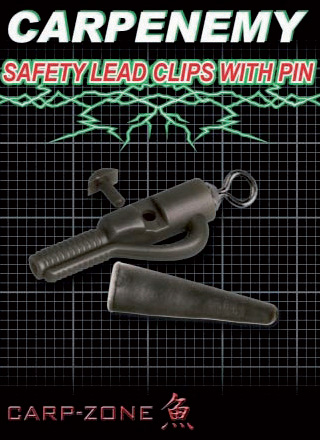 Carp-Zone Safety lead clip with pin