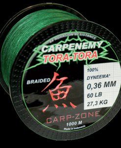 Carp-Zone Treccia TORA-TORA 1000mt 0,30mm Green