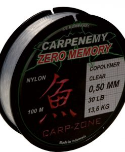 Carp-Zone Zero Memory BLACK Shock Leader 100mt