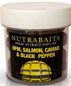 Nutrabaits High Attract Pop-Ups BFM,SALMON,CAVIAR & BLACK PEPPER