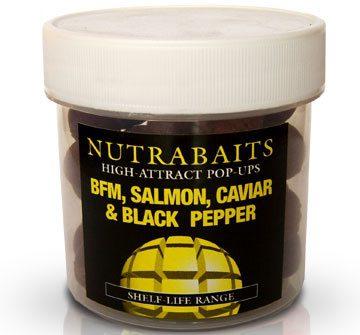 Nutrabaits High Attract Pop-Ups BFM,SALMON,CAVIAR & BLACK PEPPER