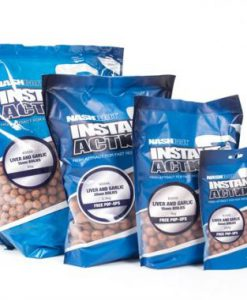 Nash INSTANT ACTION LIVER AND GARLIC BOILIES 15mm - 20mm 1Kg