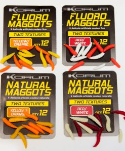 Korum Fluoro and Natural Maggots